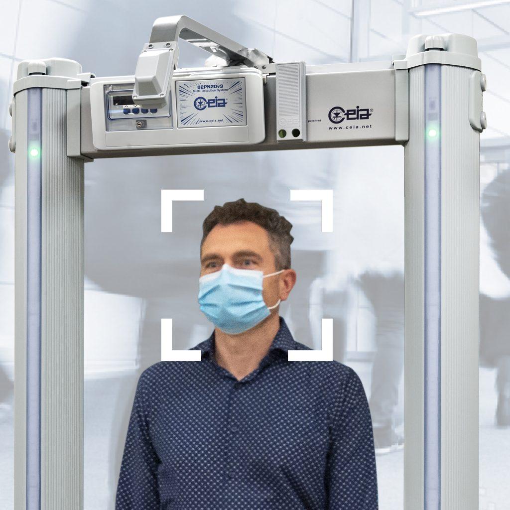 Testhőmérséklet-mérő kiegészítő szett fémdetektor kapuhoz