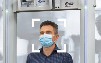 Fémdetektor kapuk testhőmérséklet-mérő funkcióval