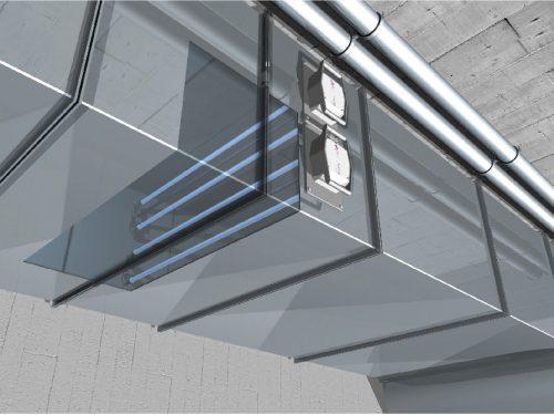 Soluva Air D levegőfertőtlenítő szellőzőrendszerbe